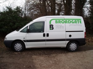 a picture of Broadgate Plumbing Van